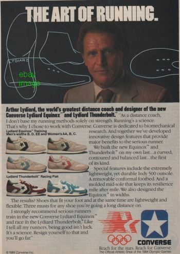 What did Arthur Lydiard think about running shoes?